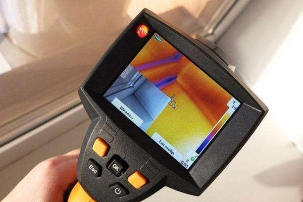 Проверка герметичности окна тепловизором
