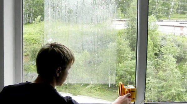Мытьё окна по периметру