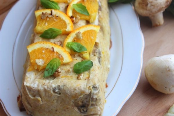 Куриный паштет в духовке с апельсином и свежей мятой