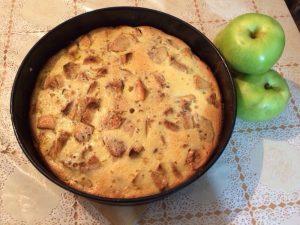 Пирог, выпеченный на сковороде