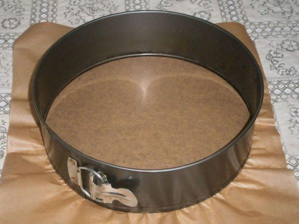 Подготовка формы для пирога