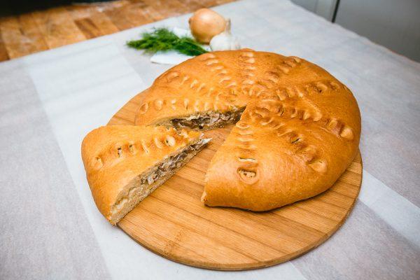 Пирог с курицей и грибами из дрожжевогоо теста