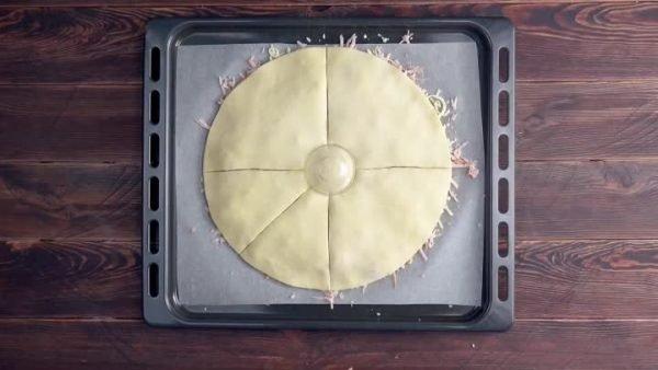 Нарезка сегментов пирога