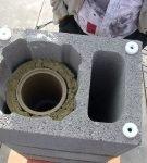Утепление керамического дымохода в процессе монтажа