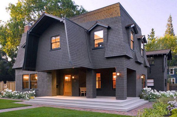 Оригинальная ломаная мансардная крыша