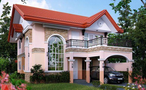 Красивая мансардная крыша частного дома