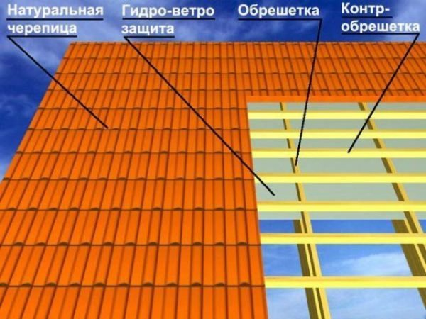 Схема расположения конструктивных элементов крыши