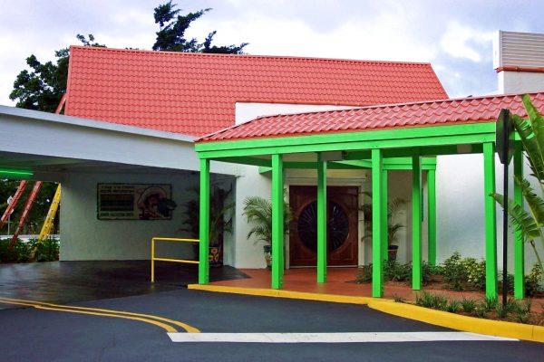 Дом с металлочерепичной крышей