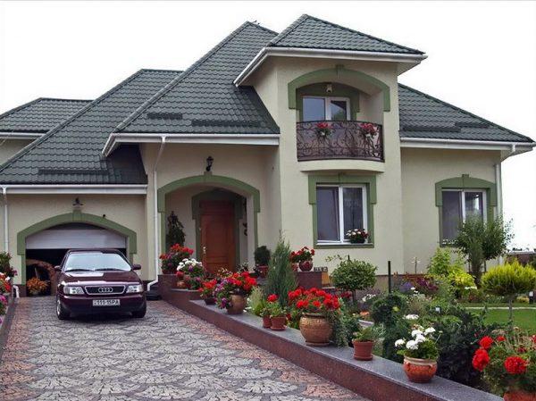 Сложная крыша из черепицы «Монтеррей»