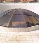 Зенитный фонарь-зонтик