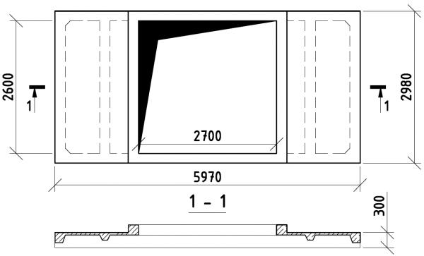 Расчёт проёма под зенитный фонарь