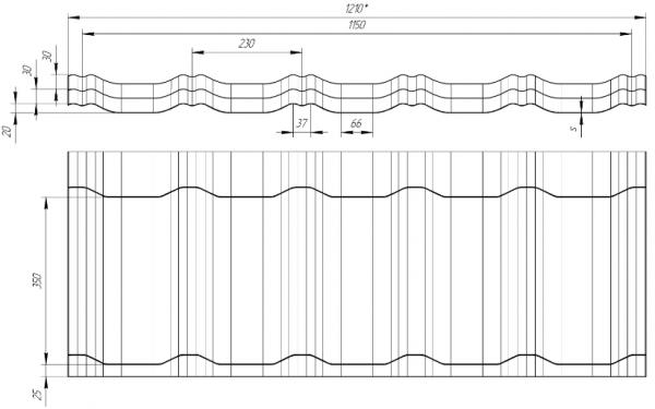 Схема профиля «Квинта плюс»