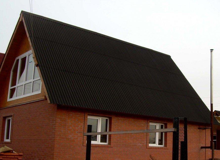 Крыши из ондулина фото и подшива