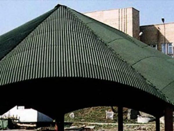Купольная крыша из ондулина