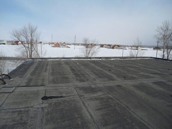 Крыша гаража рубероида