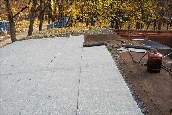 Гидроизоляция плоской крыши гаража