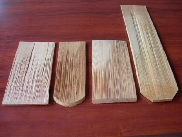 Размеры и форма деревянной черепицы