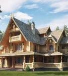 Дом с деревянной кровлей