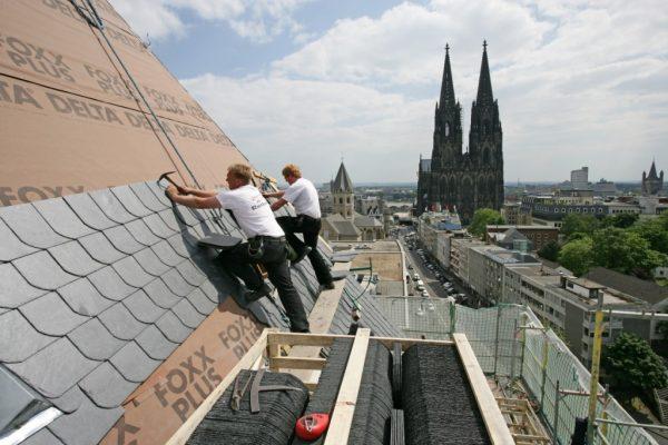 Монтаж крыши немецким способом