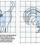 Фигурки кота и петуха