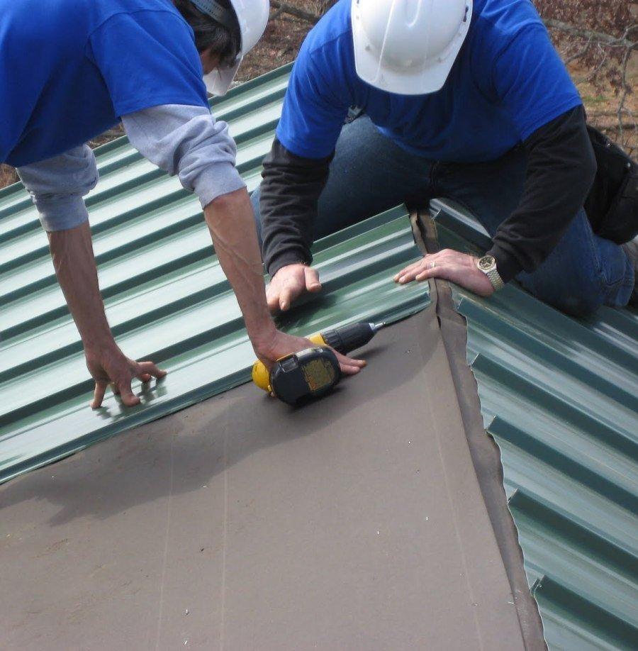 Как правильно прикручивать профнастил на крыше