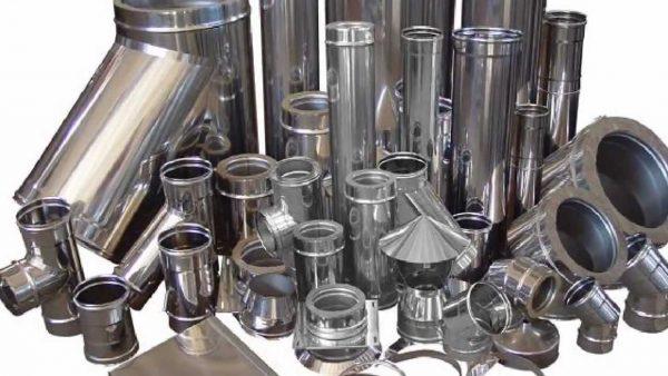 Доборные элементы для дымохода из нержавеющей стали