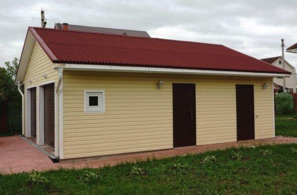 Крыша гаража из ондулина