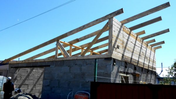Стропильная система для односкатной крыши