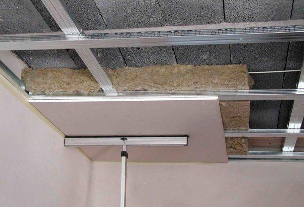 Утепление потолка из ГКЛ