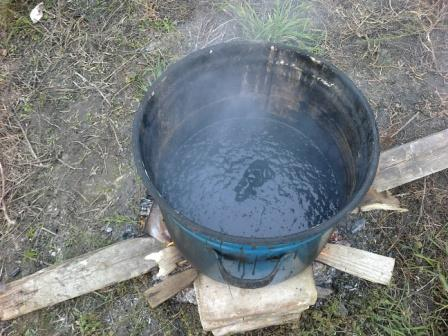 Приготовление битумной мастики