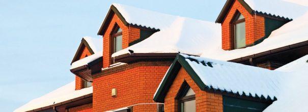 крыша в снегу