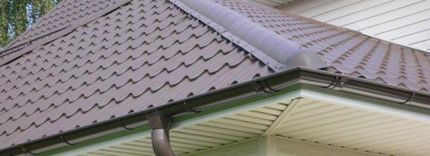 Карниз крыши из металлочерепицы