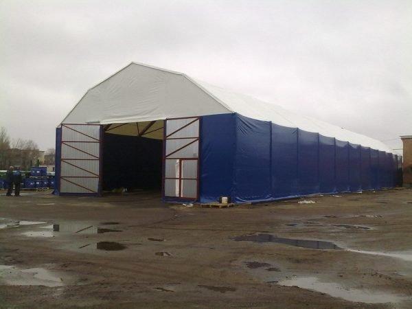 Ангар с полигональной крышей
