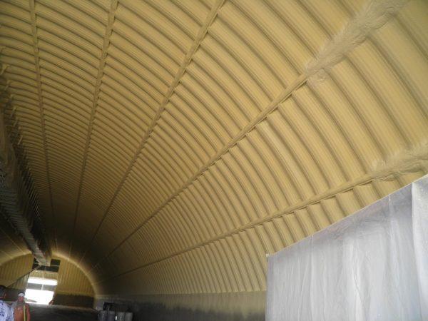 Утепление крыши ангара ППУ