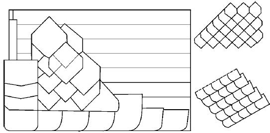 Схема укладки плиток французски способом