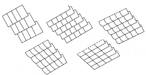 Схема укладки плиток немецким способом