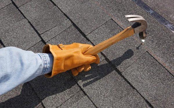 Ремонт сланцевой крыши
