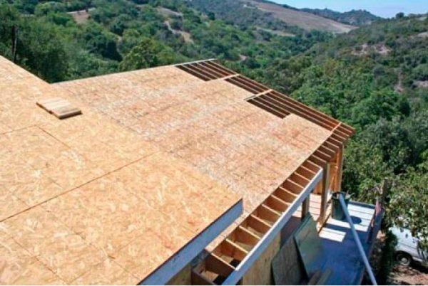 Сплошная обрешётка на крыше