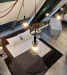 Дизайн спальни в стиле хай-тек