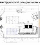 Проект дизайна мансарды с гостиной и бильярдной