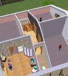 Дизайн мансарды с жилыми помещениями и ванной комнатой