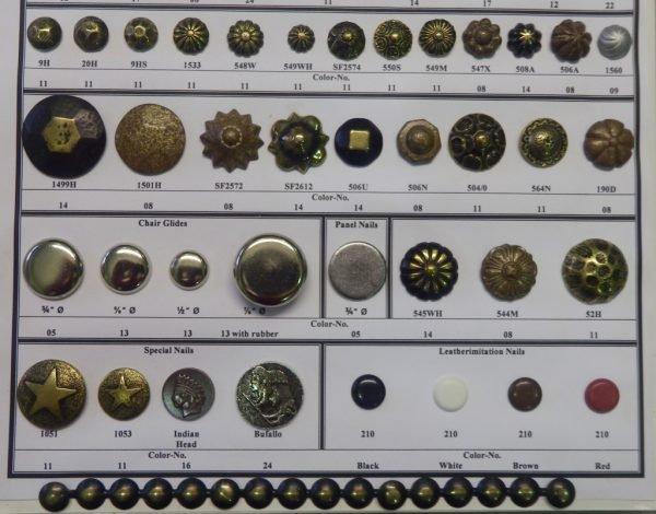 Разновидности декоративных гвоздей
