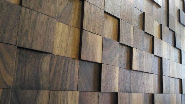 Деревянное панно из торцевых спилов