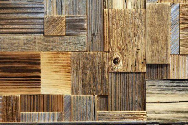 Деревянное панно в стиле хаос