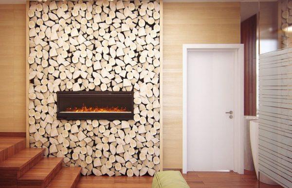 Декоративная стенка из дров