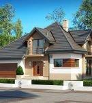 Удобный дом с мансардой