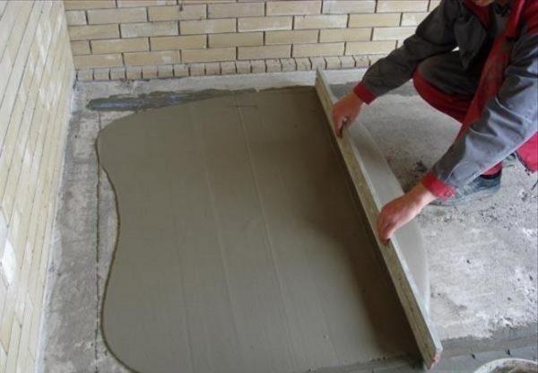 Устройство бетонной стяжки на крыше гаража