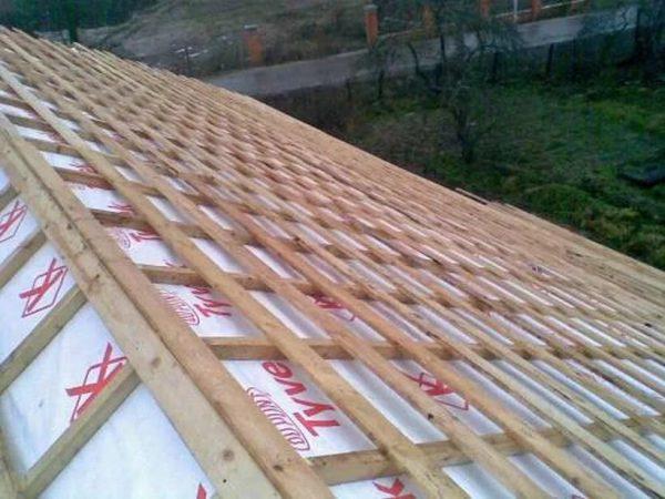 Обрешётка на двухскатной крыше
