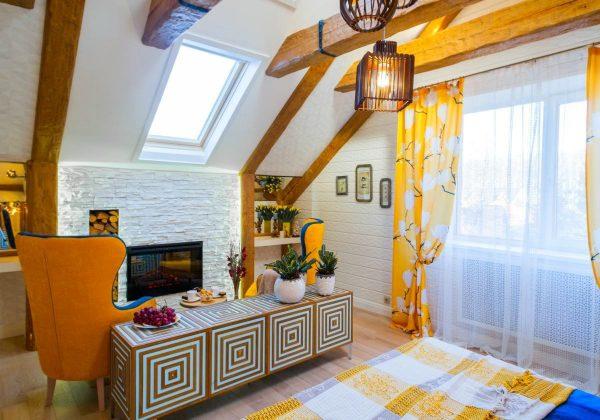 Оригинальный потолок мансарды