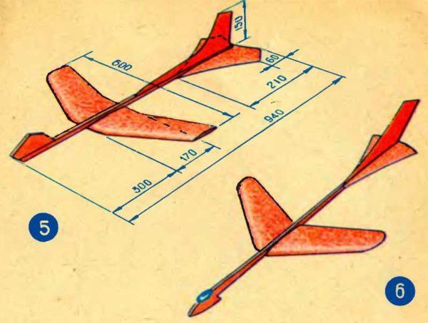Чертёж флюгера самолёта